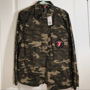 NWT The Rolling Stones x Forever 21 Camo Jacket